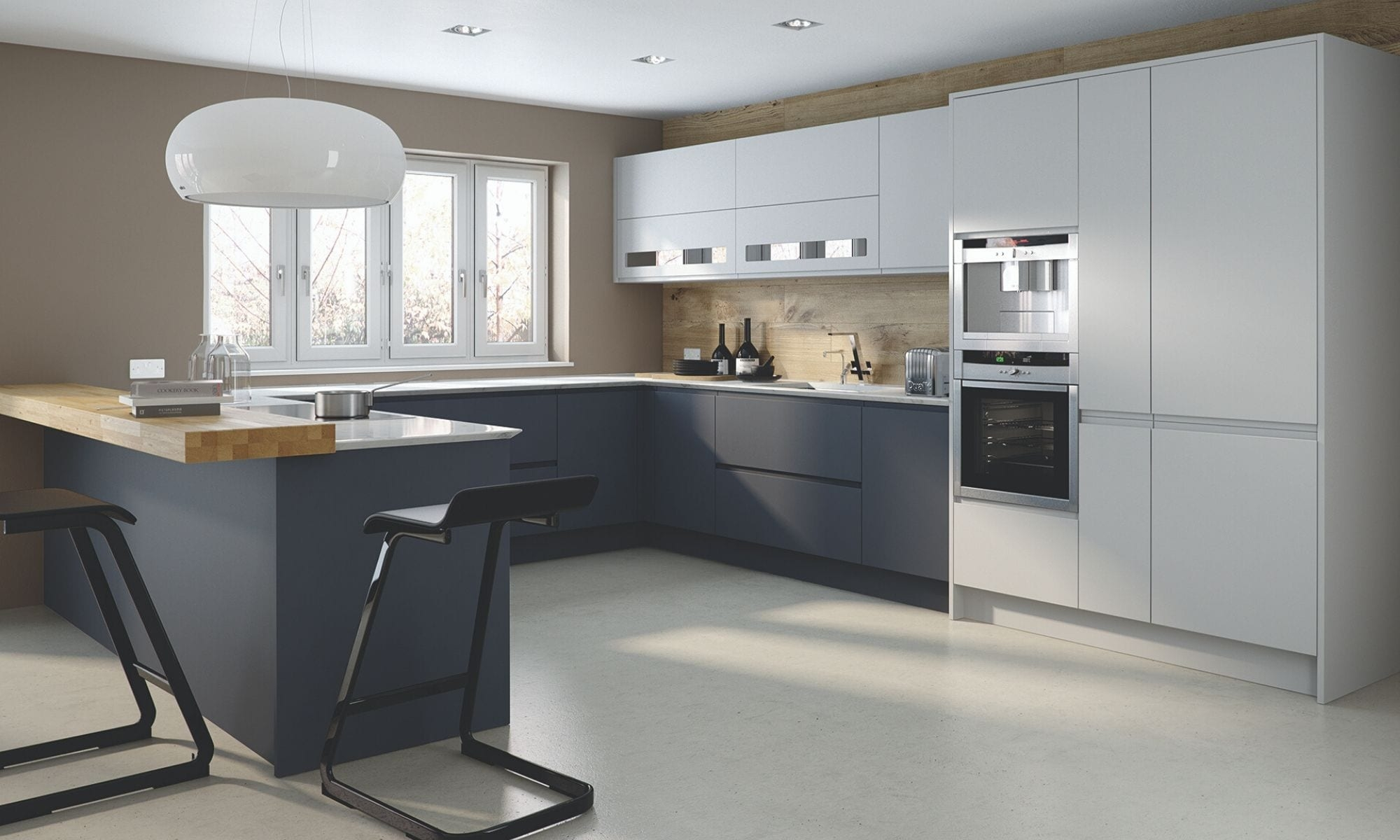 Contemporary Kitchen in Dark Blue