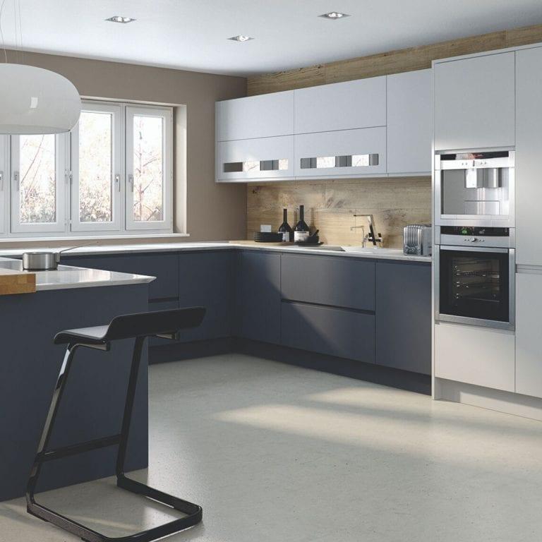 Contemporary Kitchen in Dark Blue
