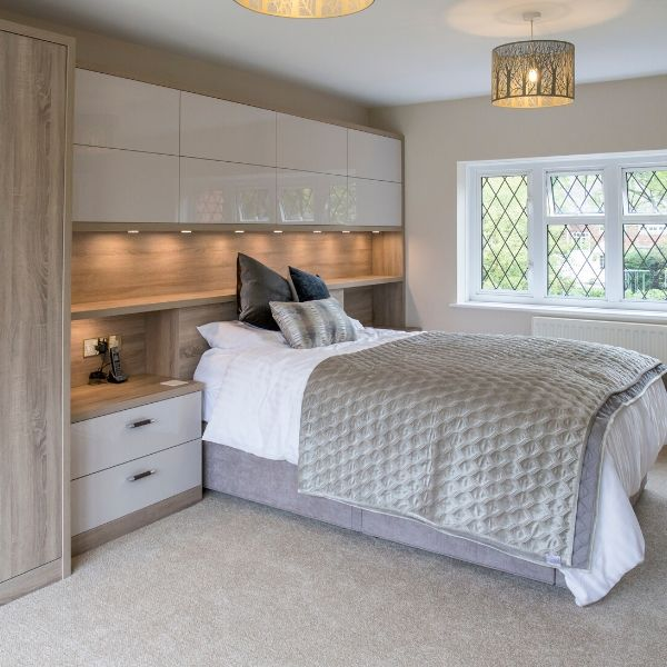 Contemporary Bedroom in Gloss finish