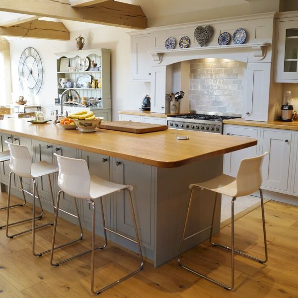 Traditional kitchen with beams